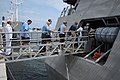 US Navy 110903-N-MN502-157 Members of the Westminster retirement community come aboard the littoral combat ship USS Independence (LCS 2).jpg