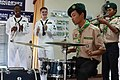 US Navy 111025-N-VC635-866 Musician 3rd Class Anthony Chiles, left, and Musician 2nd Class James Caliva, both assigned to the U.S. 7th Fleet Band,.jpg