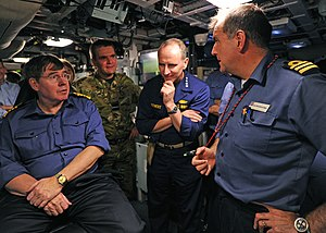 Mark Stanhope - Stanhope on board the submarine HMS Astute