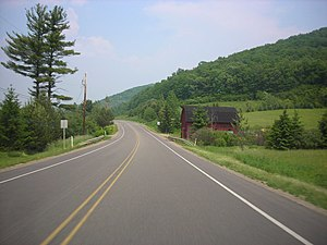U.S. Route 6 in Pennsylvania - US 6 eastbound in McKean County