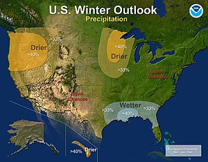 2012–13 North American winter - Precipitation Outlook