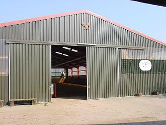 Riding hall - Exterior view of a riding hall of modern lightweight construction