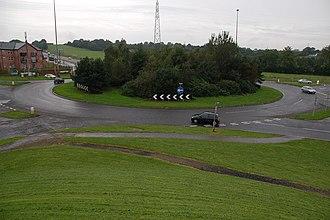 A8(M) motorway (Northern Ireland) - Corr's Corner near Glengormley