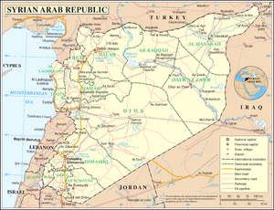 An enlargeable map of the Syrian Arab Republic