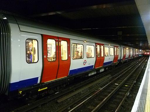 Underground train in Moorgate Station, 2013