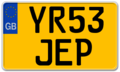 United Kingdom motorcycle license plate YR53 JEP FE-Schrift prototype.png