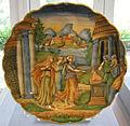 Urbino maiolica, piatto con figure in un paesaggio, 1575-1600 circa.JPG