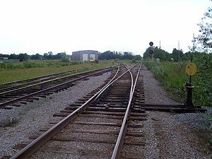 Barrie Collingwood Railway - BCRY yard in Utopia, Ontario in June 2006.