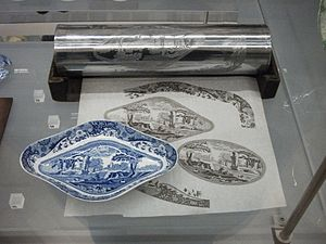 Transfer printing - A steel roller for transfer printing with the resulting end product.