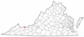 Bluefield, Virginia - Image: VA Map doton Bluefield