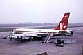 VH-EBI B707-338B Qantas LHR 03MAR64 (6054275148).jpg