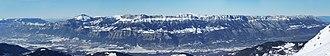 Grésivaudan - Valley of Grésivaudan seen from the 7 Laux ski resort