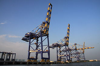 Container crane - Container cranes at Kochi Port