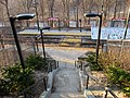 Valley Road station from stairs, March 2016.jpg