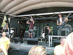 The Killing Lights auf der Warped Tour 2012.