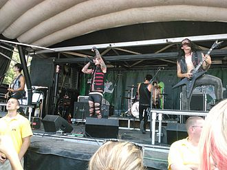 Vampires Everywhere! - Vampires Everywhere! performing on Warped Tour in 2012