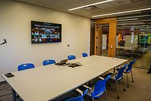 Van Houten Presentation Studio in Moffitt Library at UC Berkeley