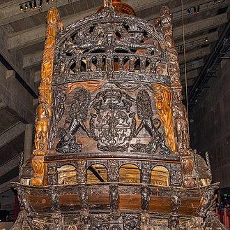 Vasa (ship) - Vasa's upper transom in Vasa Museum 2018