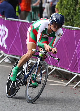 Vasil Kiryienka - Kiryienka competing in the time trial at the 2012 Summer Olympics in London