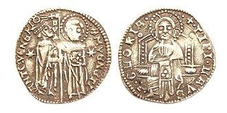 Venetian grosso - Republic of Venice, Grosso or 'Matapan' of Antonio Venier, Doge of Venice (1382-1400)