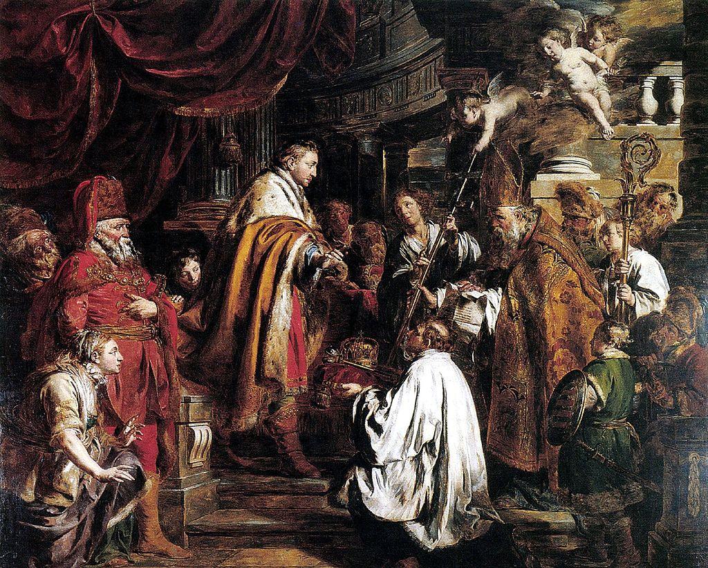Верхаген Святой Стефан принимает послов Папы 1700.jpg