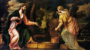 Water of Life (Christianity) - Jesus with the Samaritan woman at the well, by Paolo Veronese, 1585