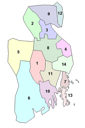Municipalities in Vestfold County.