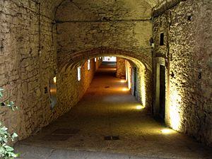 Castellina in Chianti - The entrance of the Via delle Volte