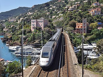 TGV - TGV Duplex leaving Nice