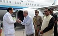 Vice President M. Venkaiah Naidu being received by the Governor of Gujarat Om Prakash Kohli.jpg