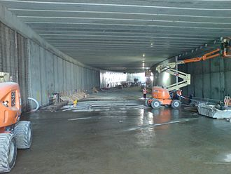 Victoria Park Tunnel - The tunnel under construction in 2012