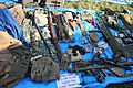 Victory Show Cosby UK 06-09-2015 WW2 Trade stalls Misc. militaria personal gear replicas reprod. orig. zaphad1 Flickr CCBY2.0 U.S grenades web gold flake shovel equipment etc IMG 3846.jpg