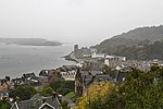 View from McCaig's Tower on a very wet day (37378526696).jpg