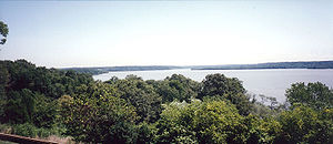 Mount Vernon Conference - View of the Potomac from Mount Vernon, Fairfax County, Virginia, toward the Maryland shore
