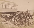 View of the great railroad wreck The most appalling railroad disaster on the Continent, on the T.P. & W.R.R. near Chatsworth, Illinois, of the Niagara Excursion Train, at midnight, August 10th, 1887.jpg