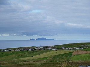 Bigton - Image: View over Bigton to Foula (geograph 2770608)