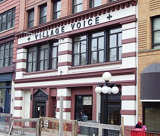 Christgau's Record Guide: Rock Albums of the Seventies - The book originated from Christgau's column in The Village Voice (former headquarters pictured).