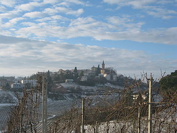 Vineyards during winter in the Italian wine re...