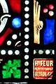 Villeréal - Vitrail de l'église Notre-Dame - Signature du peintre verrier Henri Feur.jpg