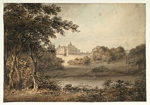 Vincent Barber - J. Vincent Barber, View of Aston Hall from the Staffordshire Pool (ca. 1808–1838), Watercolour.