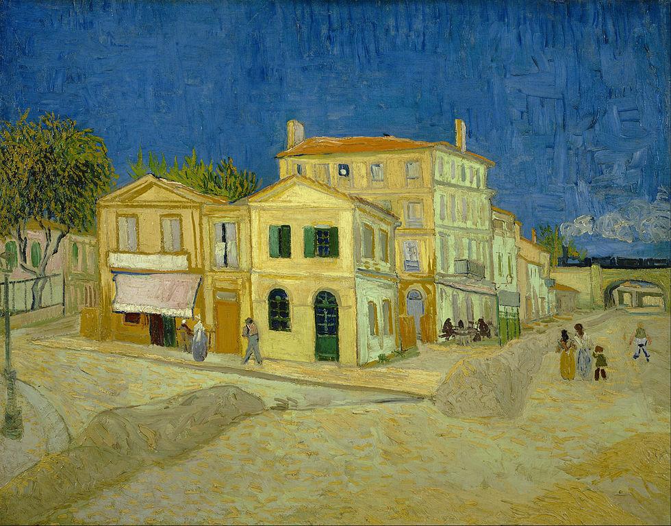 La maison jaune (la rue) de Van Gogh au Van Gogh museum d'Amsterdam.
