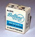 "Vintage Beltone Mercury Hearing Aid Batteries, No. 8401, ""Beltone - When a Hearing Aid Will Help"" (10352082825).jpg"