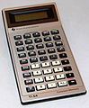 Vintage Texas Instruments TI-54 LCD Electronic Pocket Calculator, Made In USA, Copyright Date On Original Box Is 1981 (24028190510).jpg