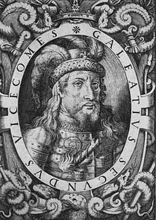 Galeazzo II Visconti ruler of Milan