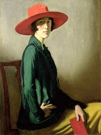 William Strang - Lady with a Red Hat (Vita Sackville-West) (1918; Kelvingrove Museum and Art Gallery, Glasgow)