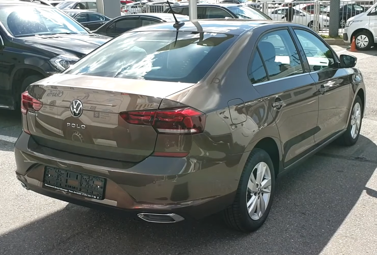 File Volkswagen Polo Sedan 2020 Russia Rear View Png Wikimedia Commons