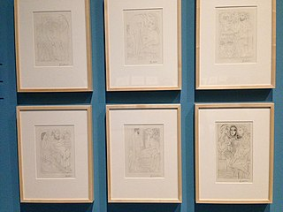 <i>Vollard Suite</i> Set of etchings by the artist Pablo Picasso