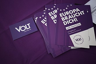 Volt Europa - Flyers by Volt in Germany