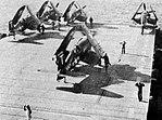 Vought F4U-4 Corsairs of VF-14 aboard USS Wright (CVL-49), in early 1951.jpg