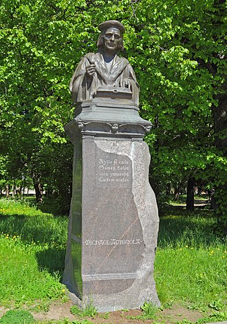 Mikael Agricola - Monument to Agricola in Vyborg